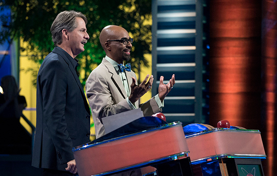 "Host Jeff Foxworthy (L) and contestant Tolton Pace (R) in the all-new ""Tolton"" May 26 Season Premiere episode of ARE YOU SMARTER THAN A 5th GRADER? on FOX."