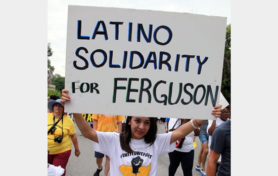 The memorial march was marked by expressions of solidarity from hundreds of diverse community members.